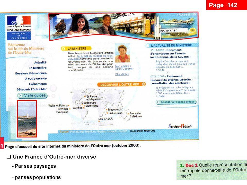 Page 142 Une France d'Outre-mer diverse Par ses paysages