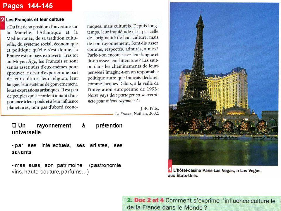 Pages 144-145 Un rayonnement à prétention universelle