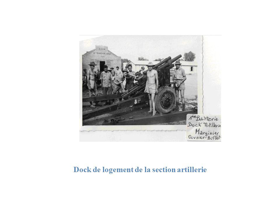 Dock de logement de la section artillerie