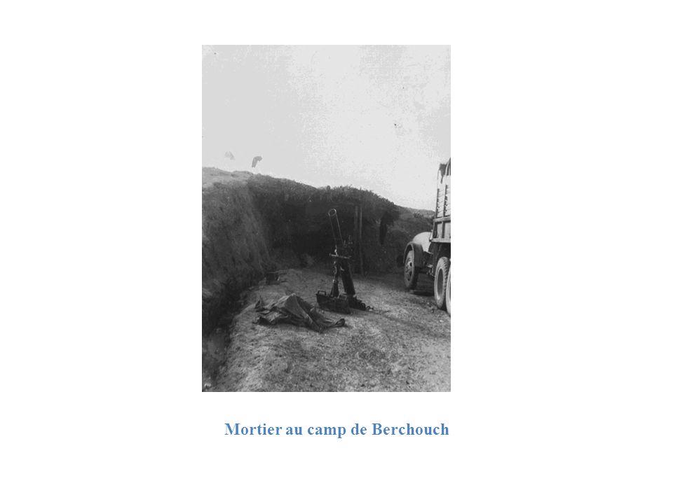 Mortier au camp de Berchouch