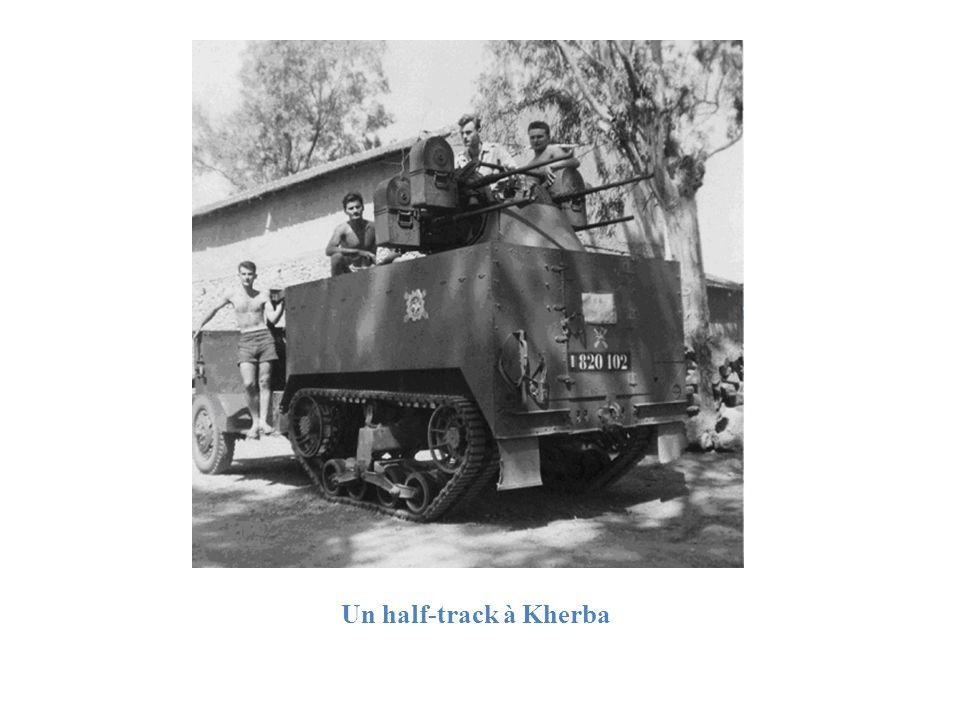 Un half-track à Kherba