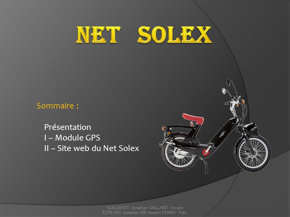 Net Solex Sommaire : Présentation I – Module GPS