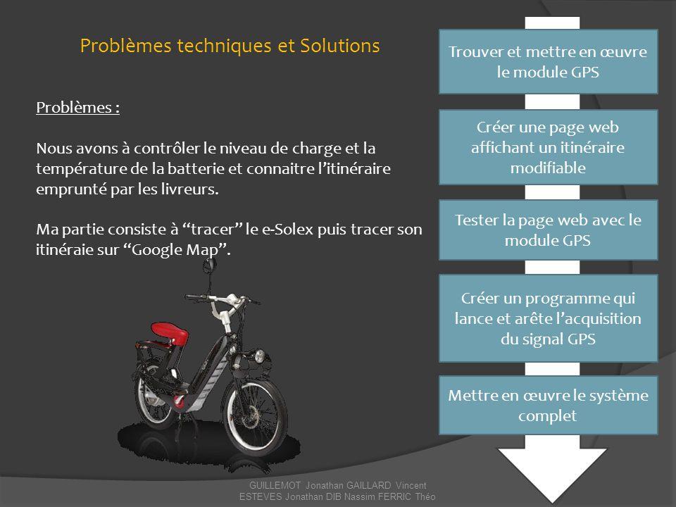 Problèmes techniques et Solutions