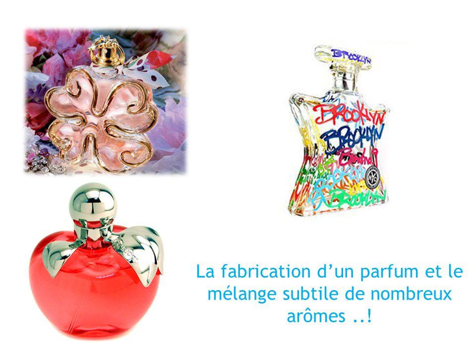 La fabrication d'un parfum et le mélange subtile de nombreux arômes ..!