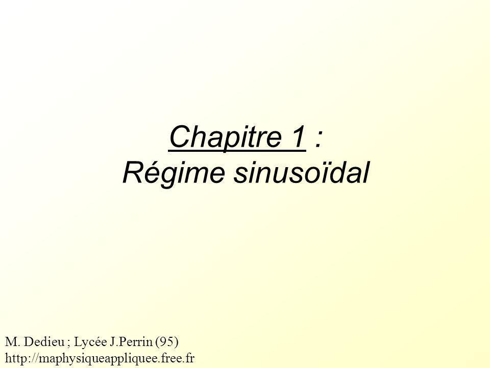 Chapitre 1 : Régime sinusoïdal