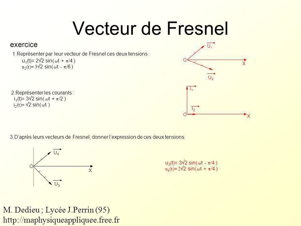 Vecteur de Fresnel M. Dedieu ; Lycée J.Perrin (95)