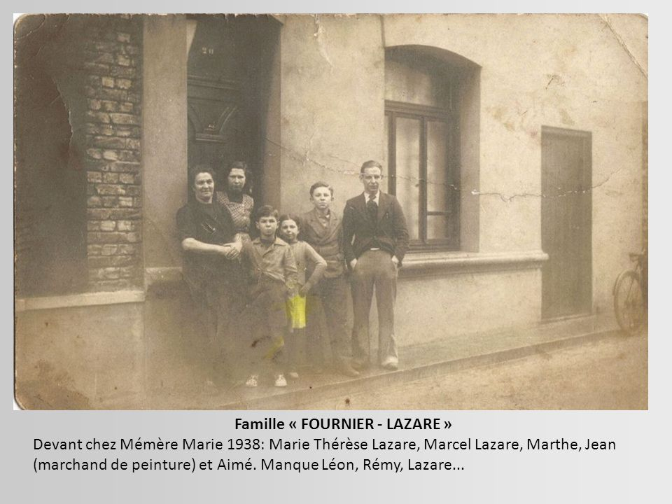 Famille « FOURNIER - LAZARE »