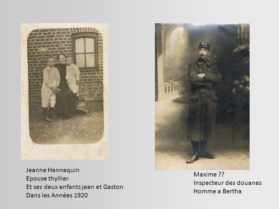 Jeanne Hannequin Epouse thyllier. Et ses deux enfants jean et Gaston. Dans les Années 1920. Maxime