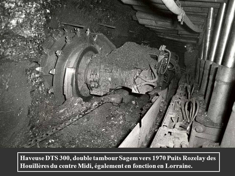 Haveuse DTS 300, double tambour Sagem vers 1970 Puits Rozelay des Houillères du centre Midi, également en fonction en Lorraine.
