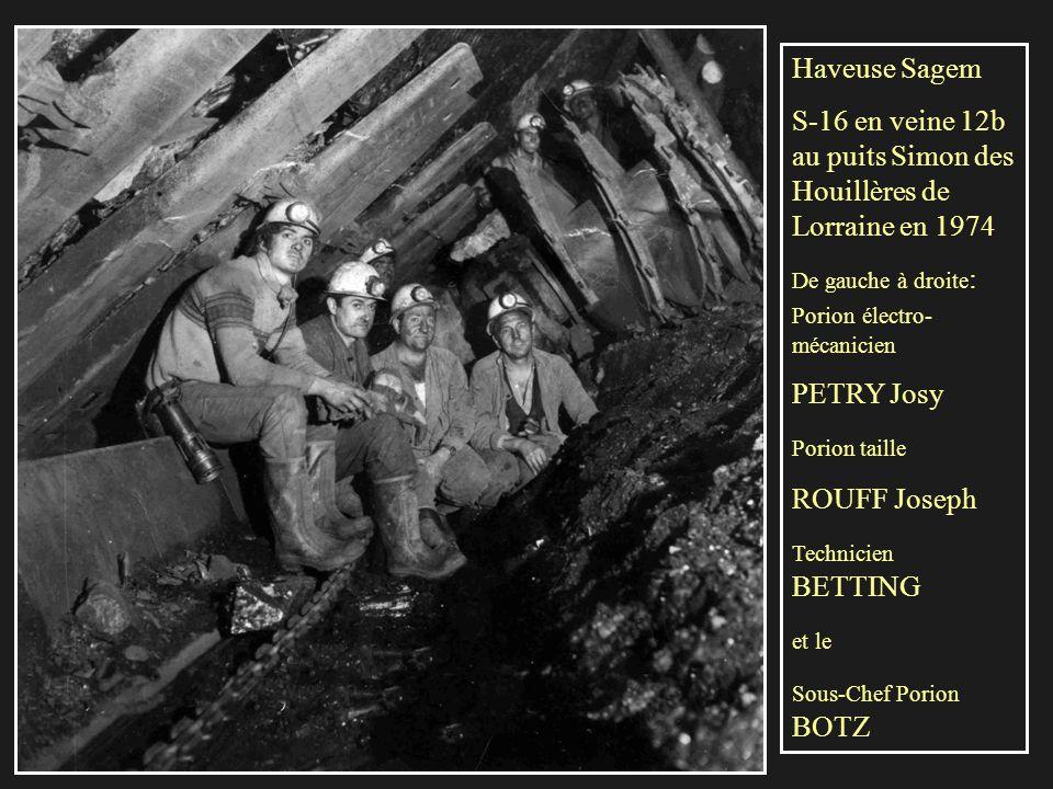 S-16 en veine 12b au puits Simon des Houillères de Lorraine en 1974