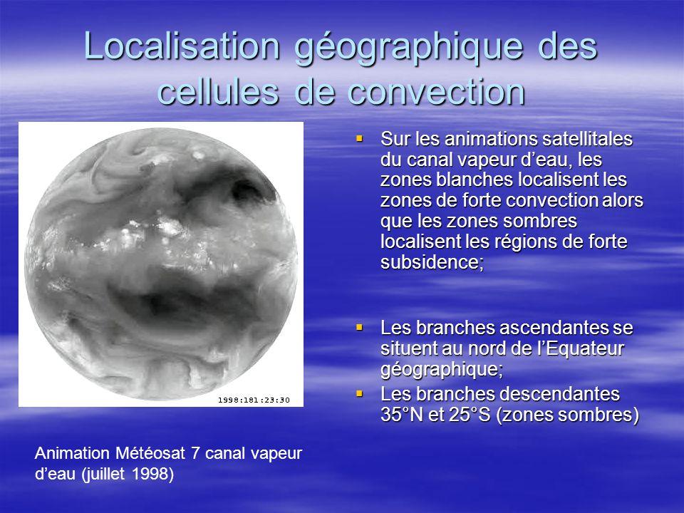 Localisation géographique des cellules de convection