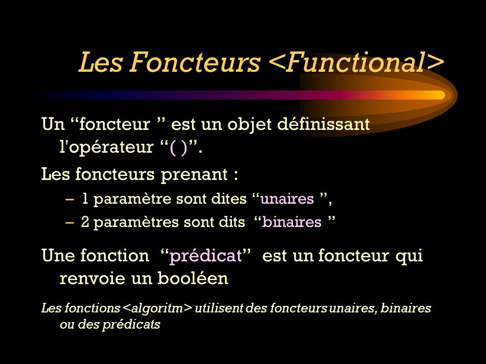 Les Foncteurs <Functional>