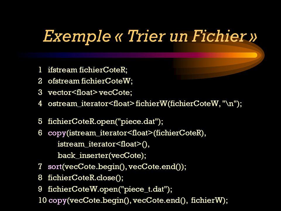 Exemple « Trier un Fichier »