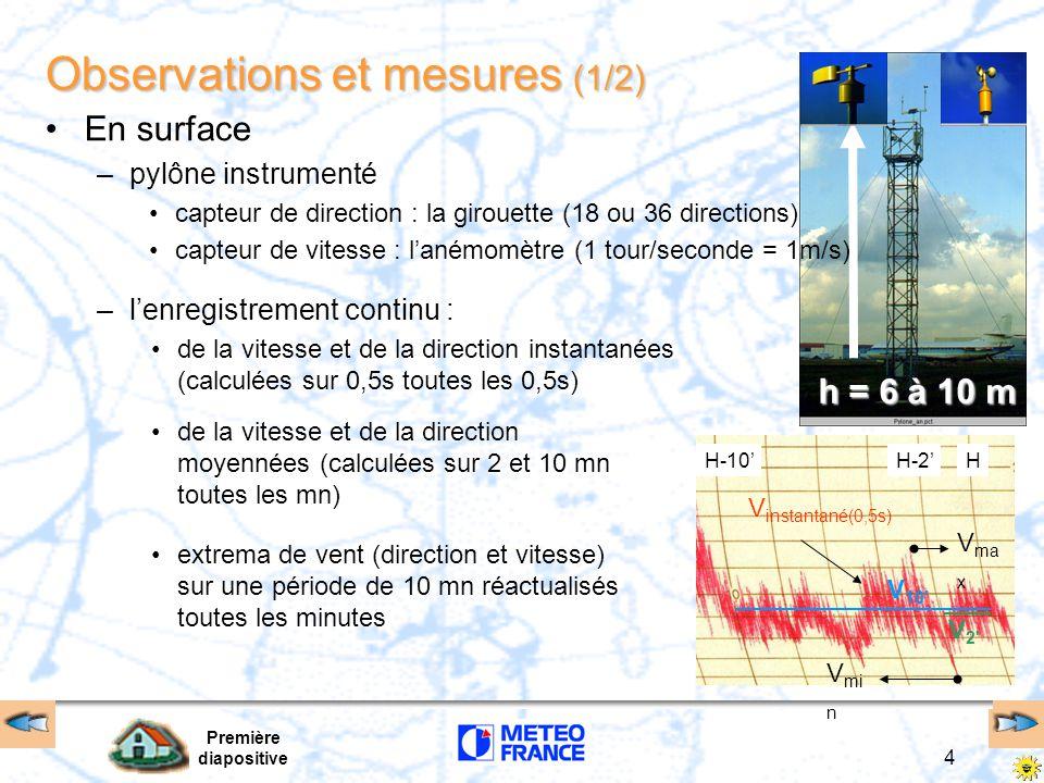 Observations et mesures (1/2)