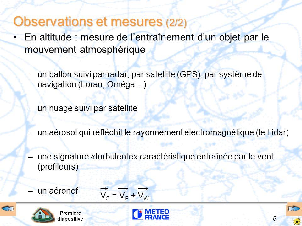 Observations et mesures (2/2)