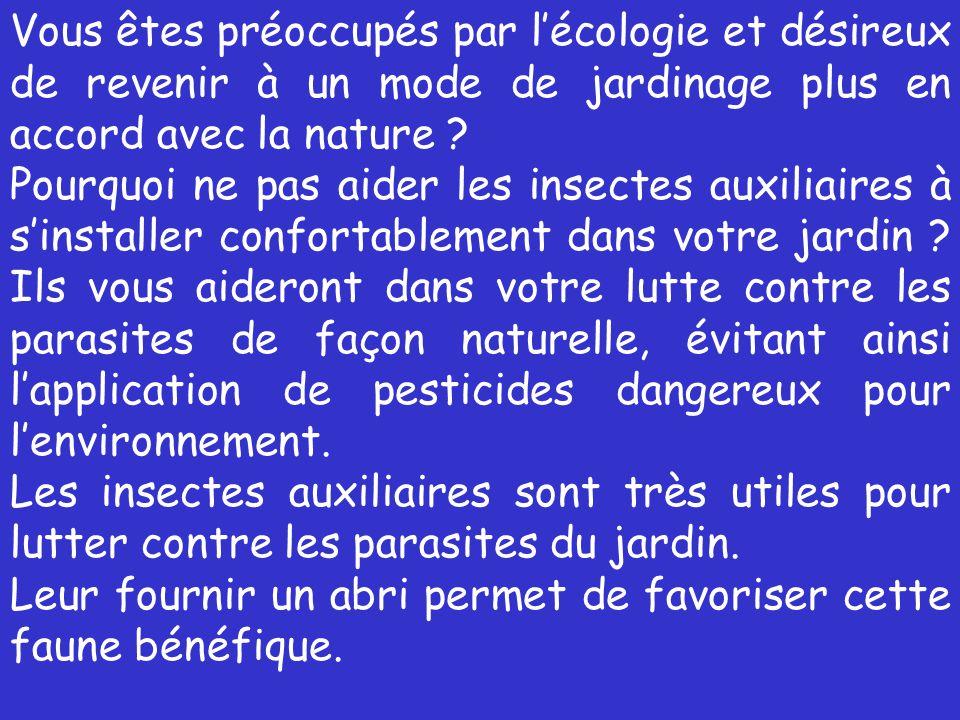 Vous êtes préoccupés par l'écologie et désireux de revenir à un mode de jardinage plus en accord avec la nature
