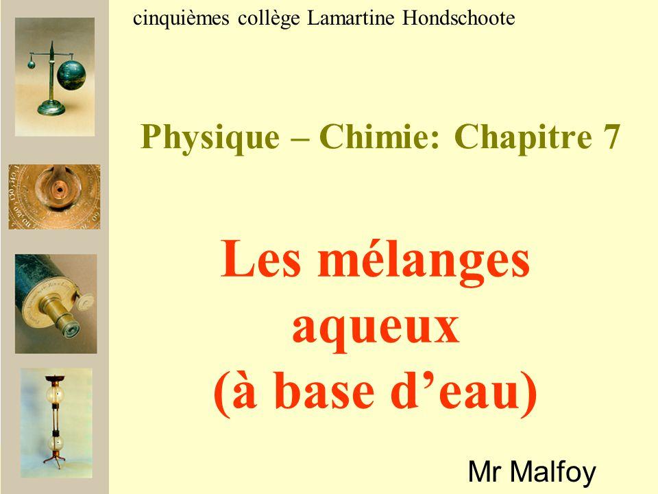 Physique – Chimie: Chapitre 7