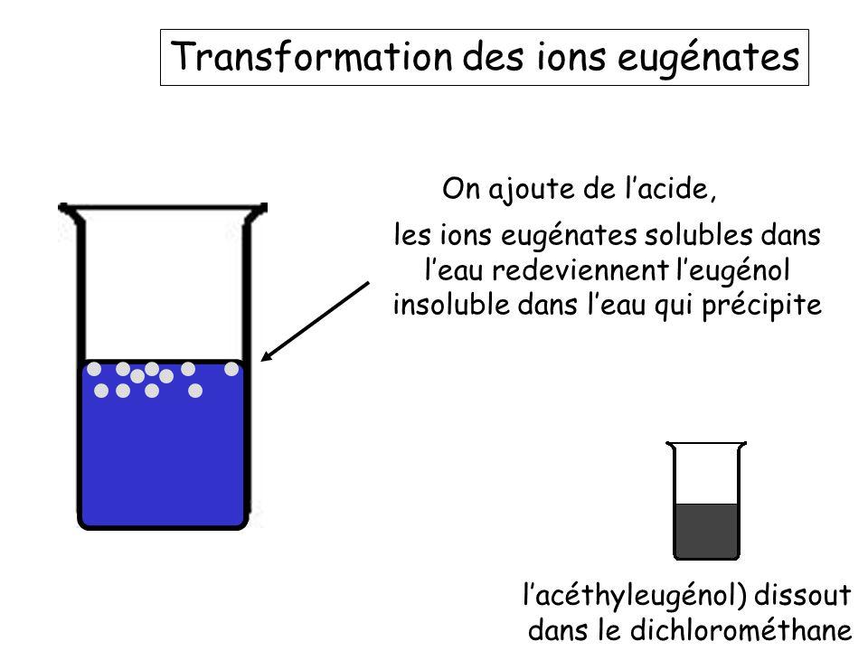 Transformation des ions eugénates