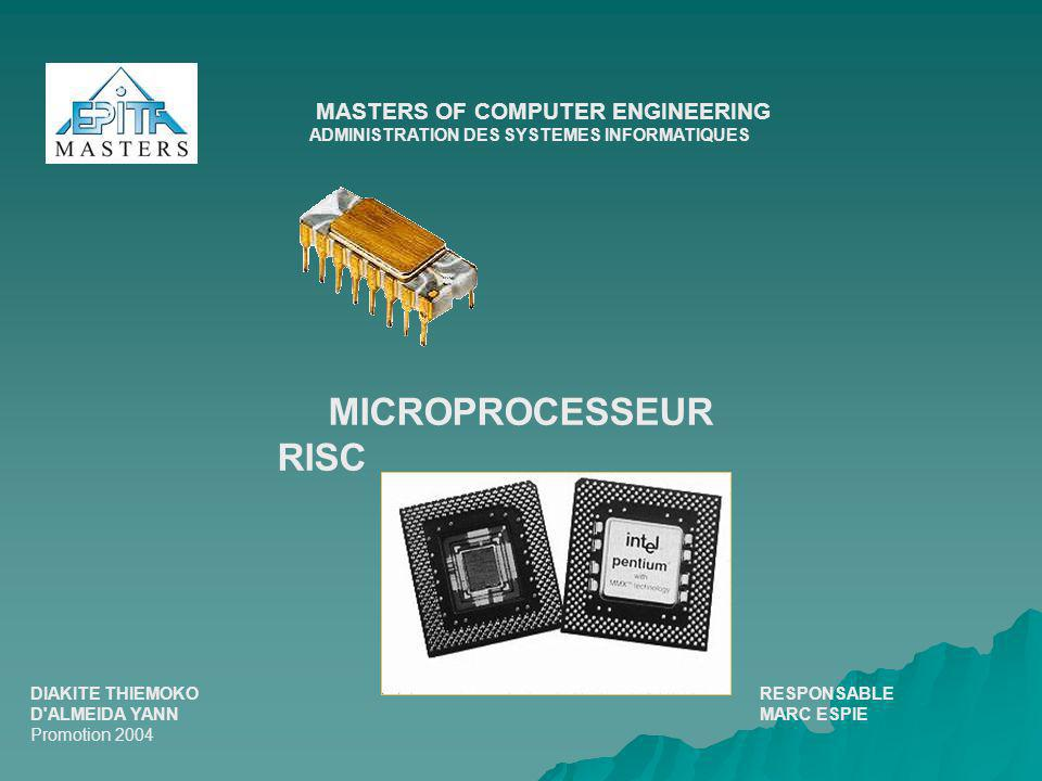 MICROPROCESSEUR RISC MASTERS OF COMPUTER ENGINEERING