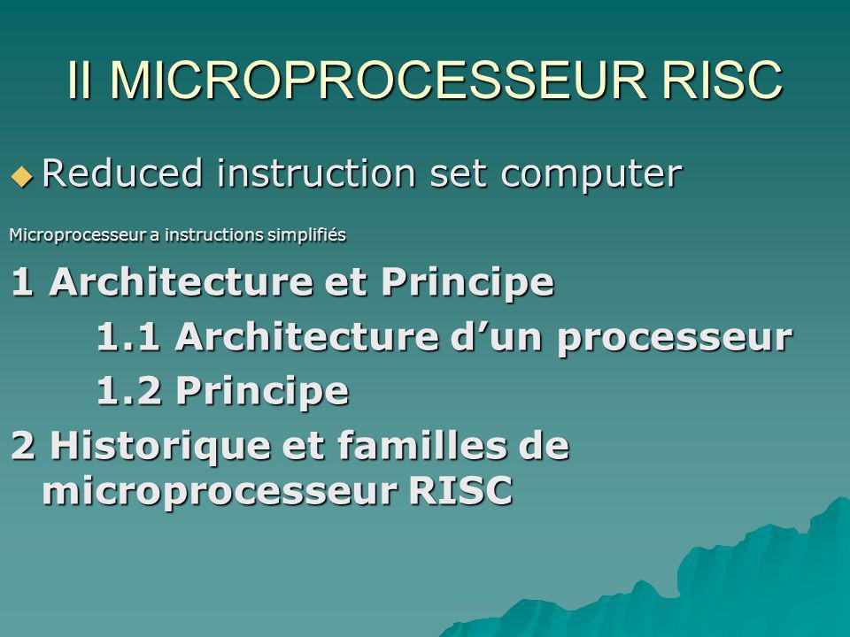 II MICROPROCESSEUR RISC