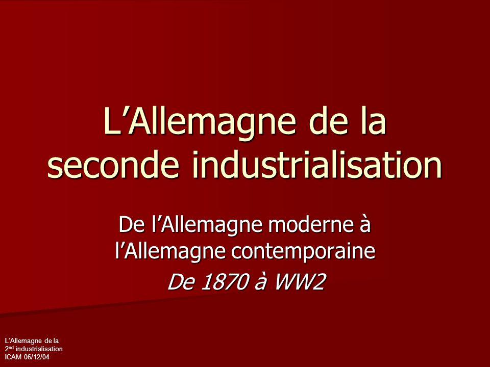 L'Allemagne de la seconde industrialisation