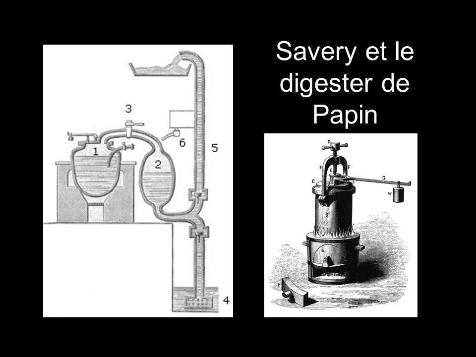 Savery et le digester de Papin