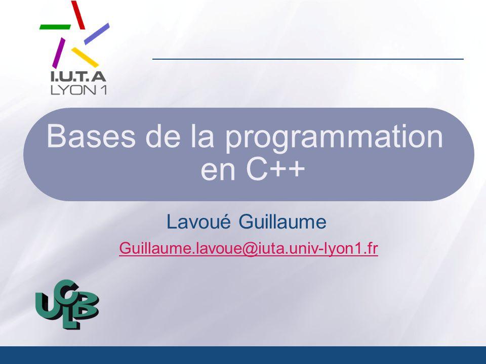 Bases de la programmation en C++