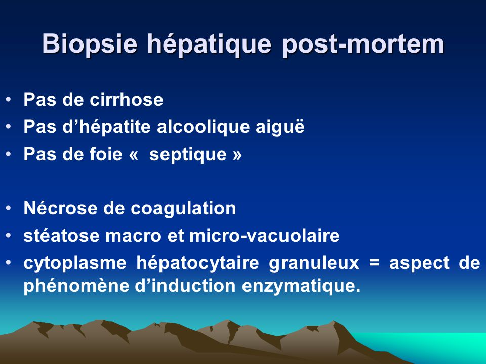 Biopsie hépatique post-mortem