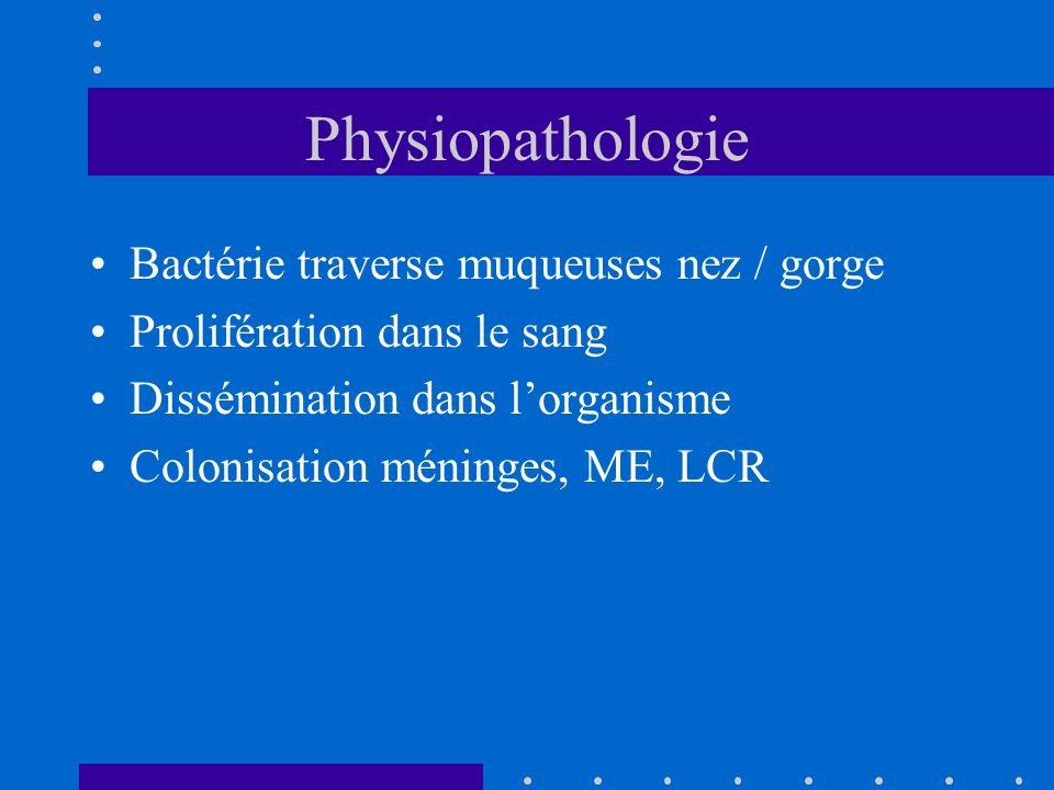 Physiopathologie Bactérie traverse muqueuses nez / gorge