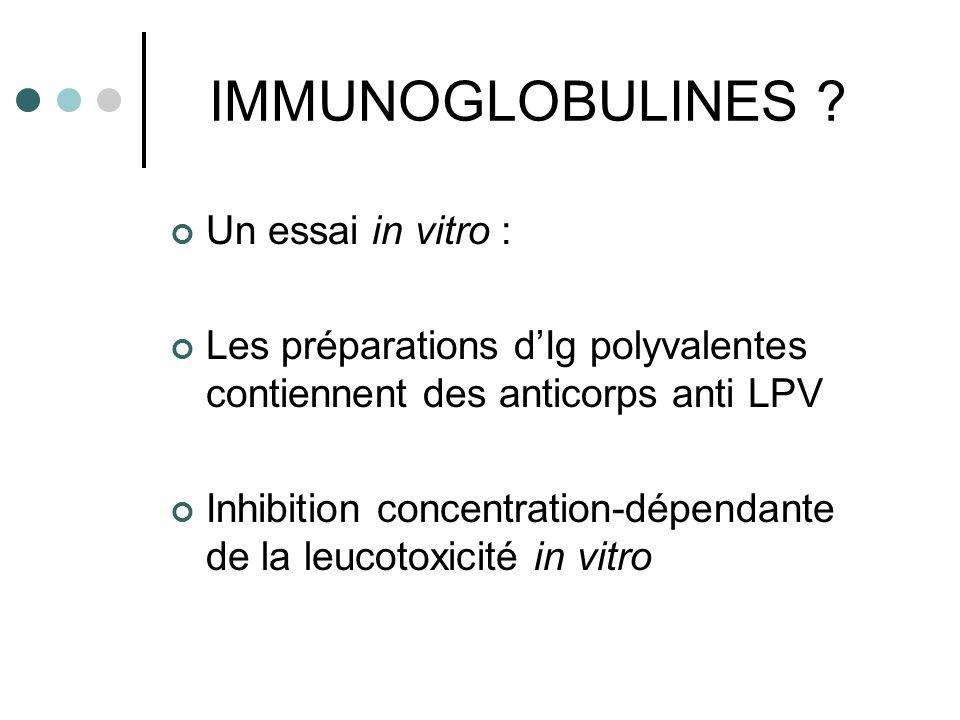 IMMUNOGLOBULINES Un essai in vitro :