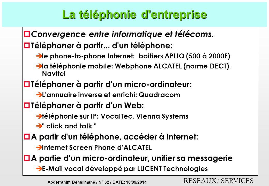 La téléphonie d entreprise