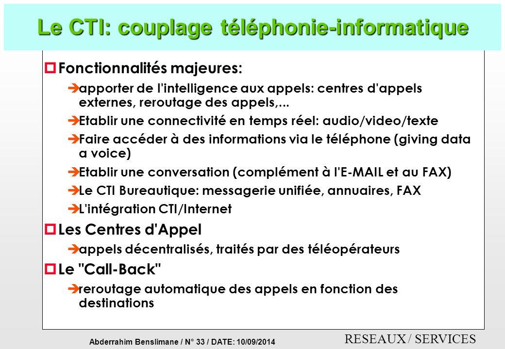 Le CTI: couplage téléphonie-informatique
