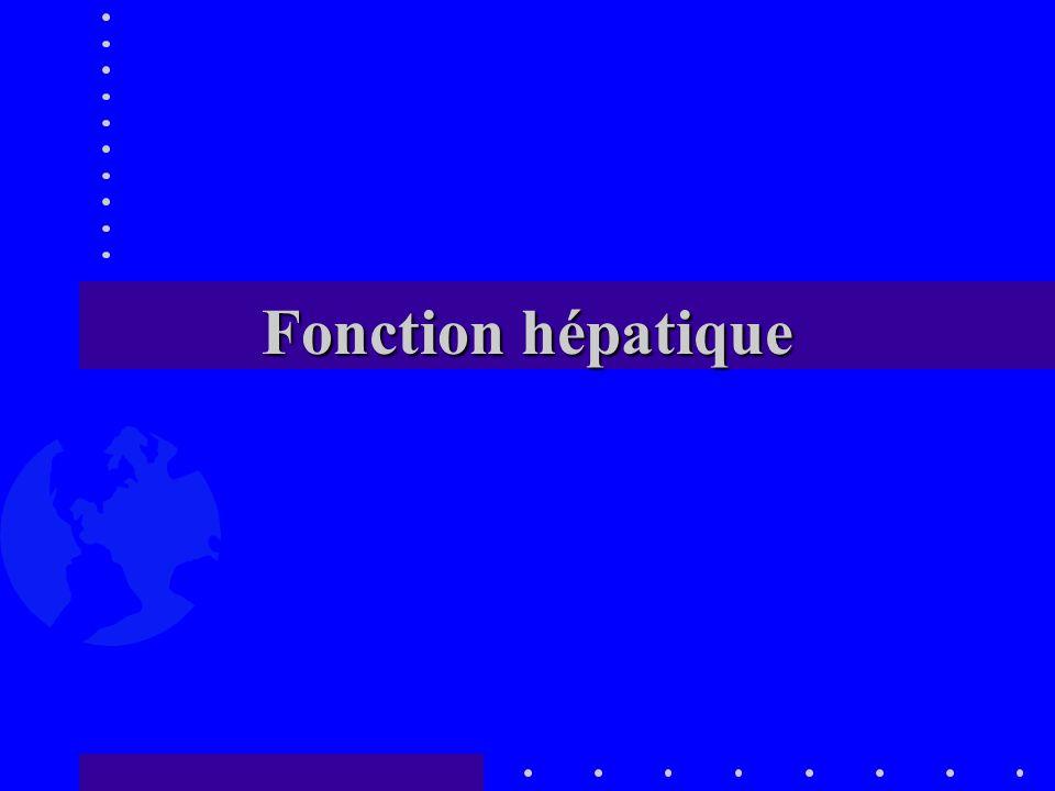 Fonction hépatique