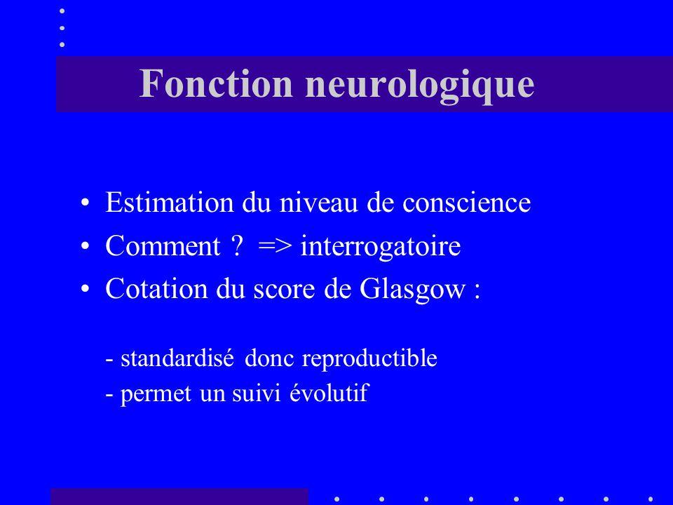 Fonction neurologique