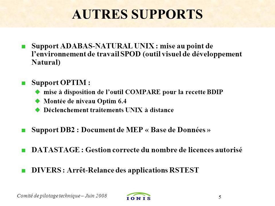 AUTRES SUPPORTS Support ADABAS-NATURAL UNIX : mise au point de l'environnement de travail SPOD (outil visuel de développement Natural)