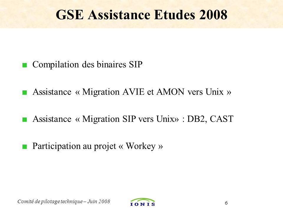 GSE Assistance Etudes 2008 Compilation des binaires SIP