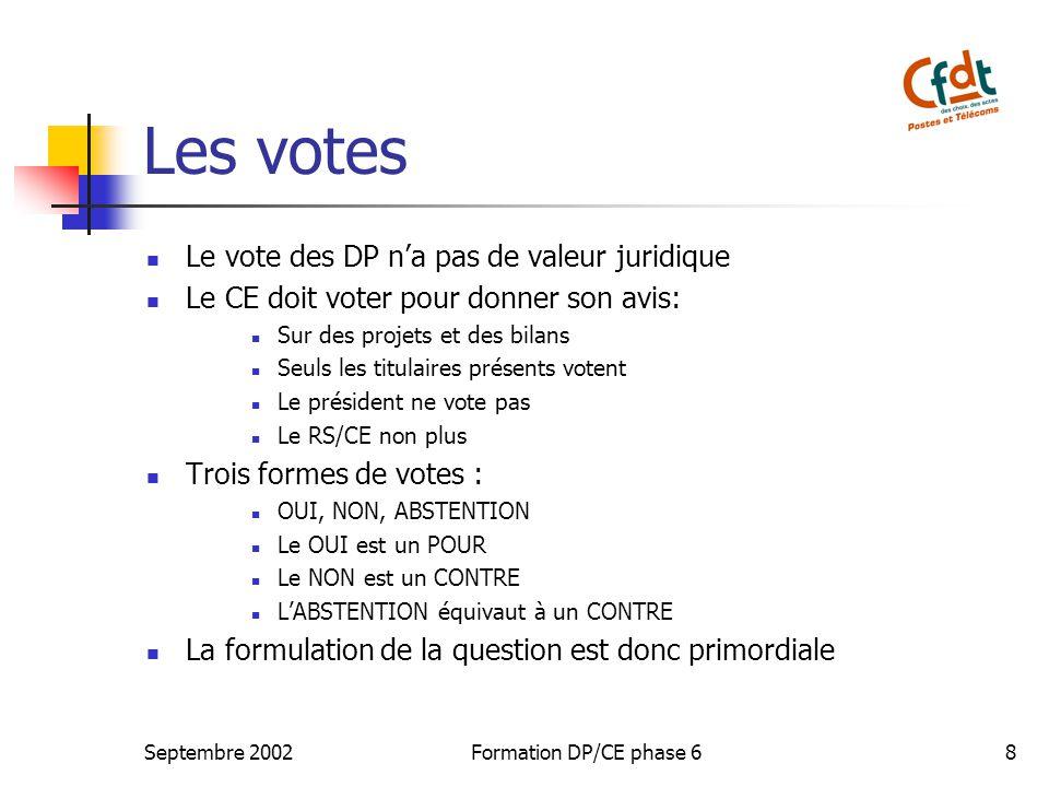 Les votes Le vote des DP n'a pas de valeur juridique