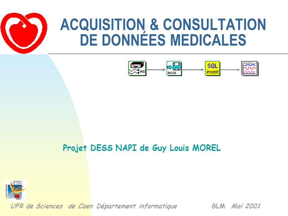 ACQUISITION & CONSULTATION DE DONNÉES MEDICALES