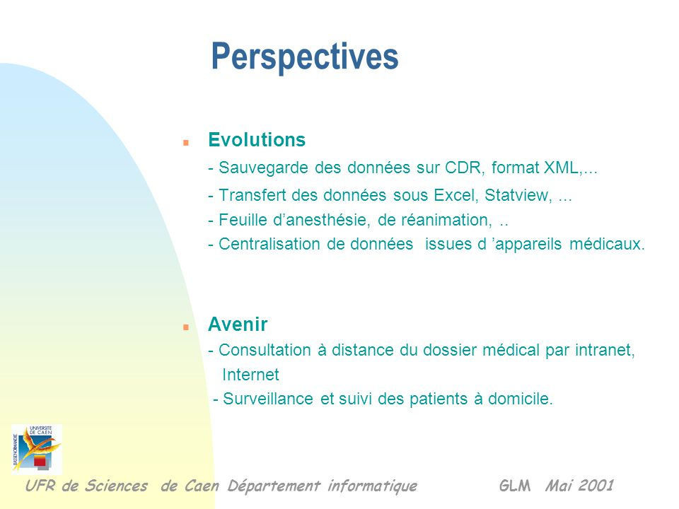 Perspectives Evolutions Avenir