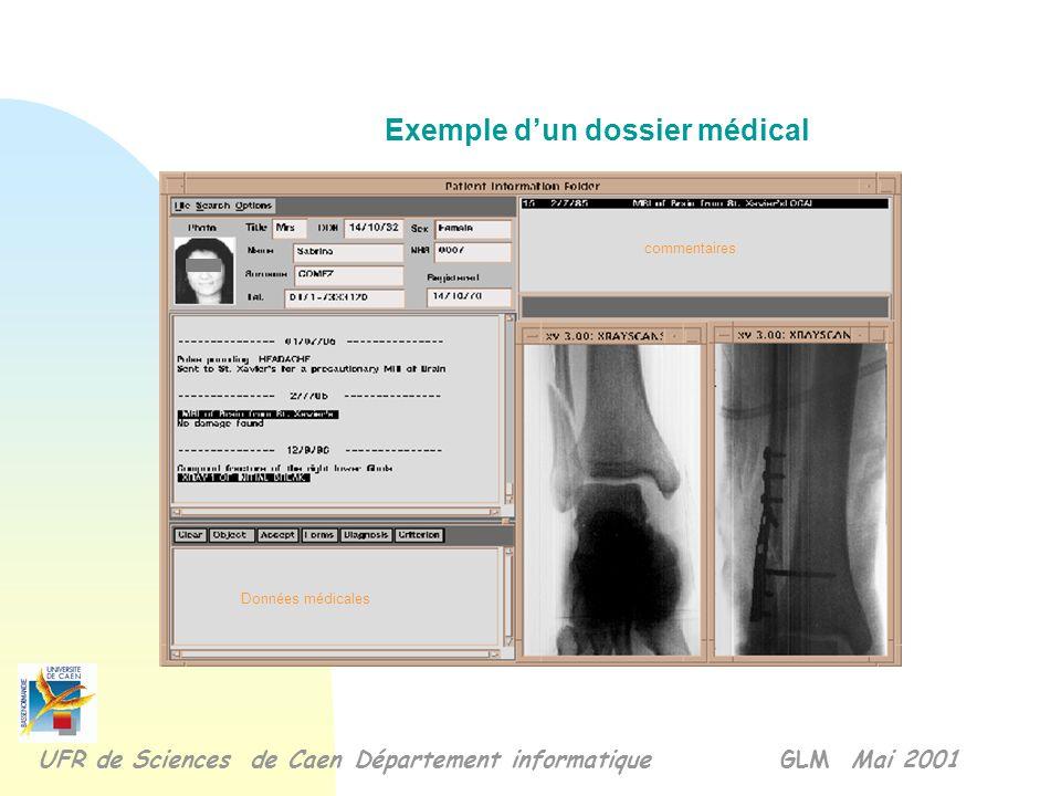 Exemple d'un dossier médical