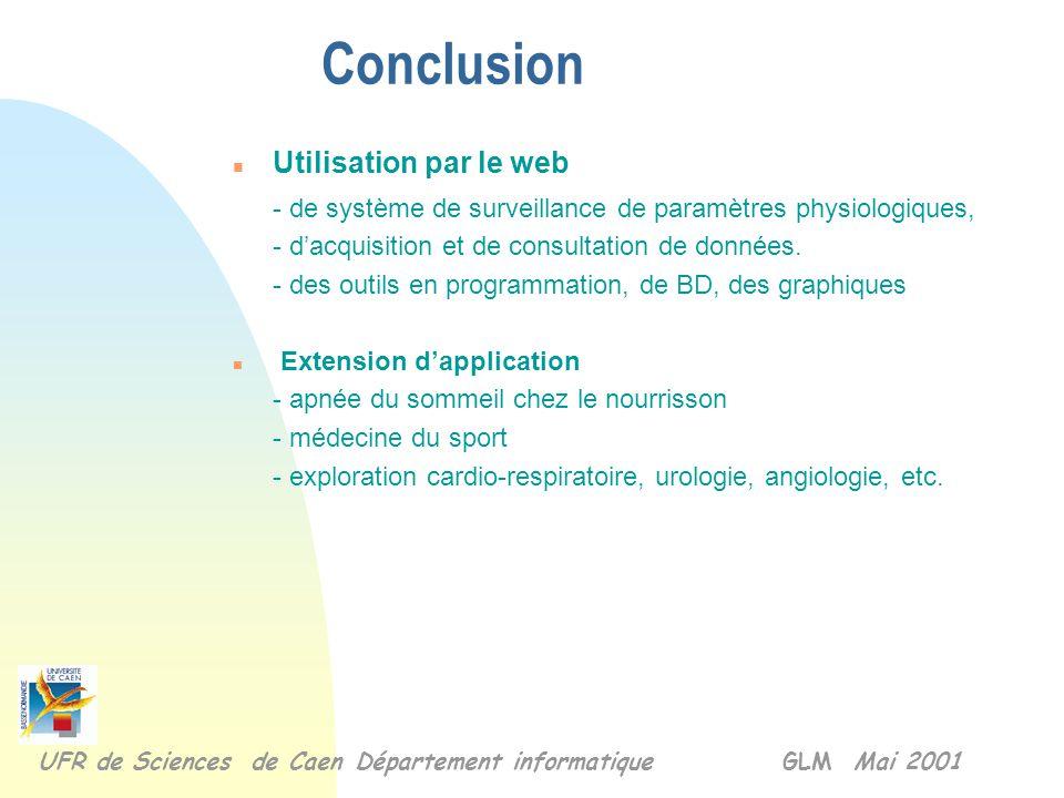 Conclusion Utilisation par le web