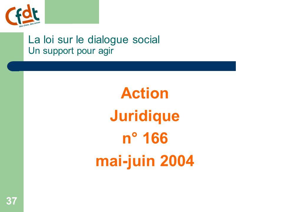 La loi sur le dialogue social Un support pour agir