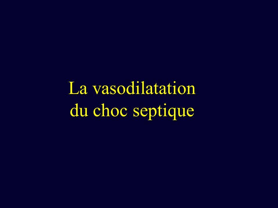 La vasodilatation du choc septique
