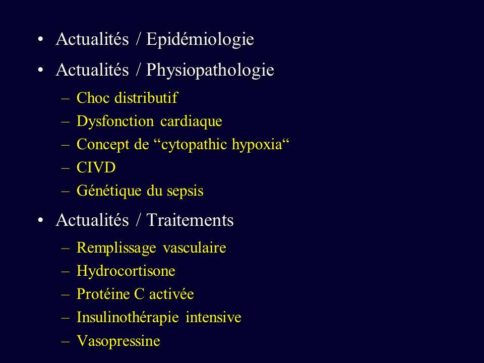 Actualités / Epidémiologie Actualités / Physiopathologie