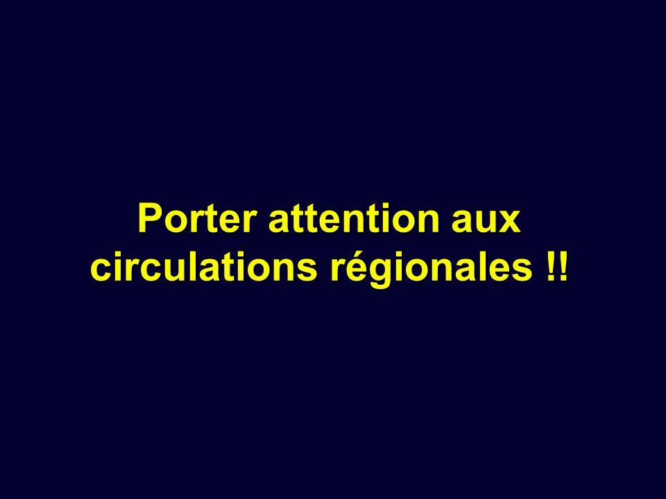 Porter attention aux circulations régionales !!