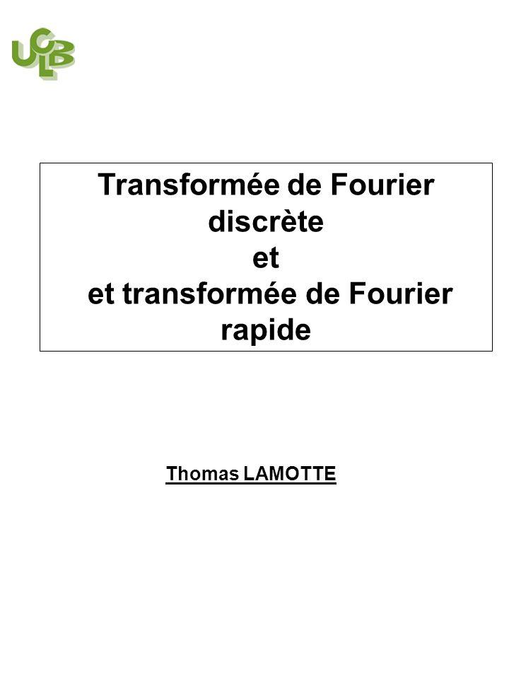 Transformée de Fourier discrète et transformée de Fourier rapide