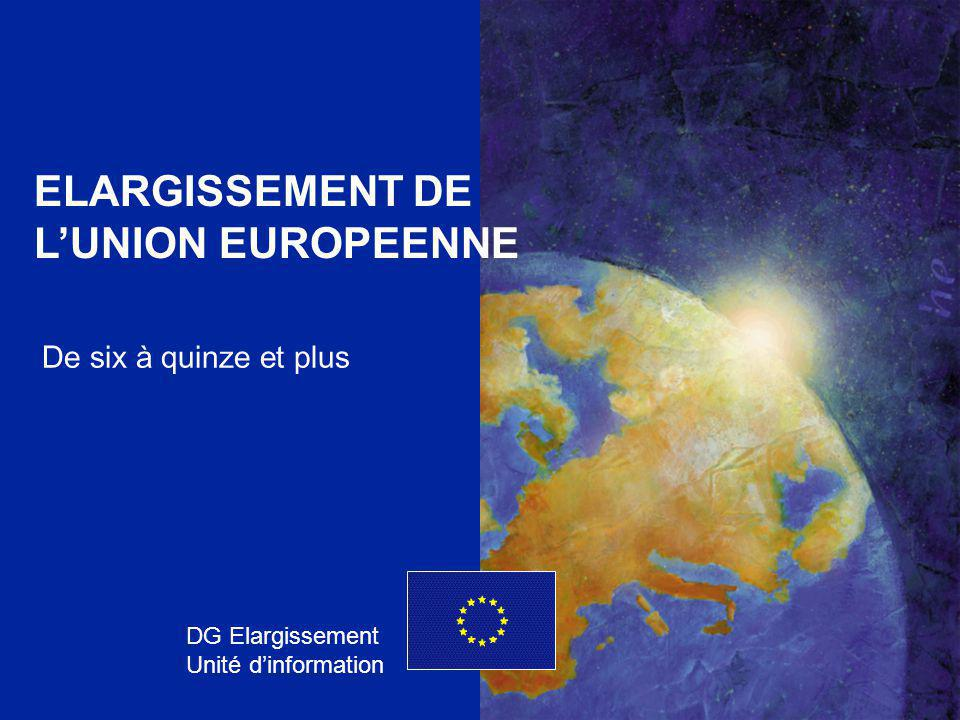 ELARGISSEMENT DE L'UNION EUROPEENNE