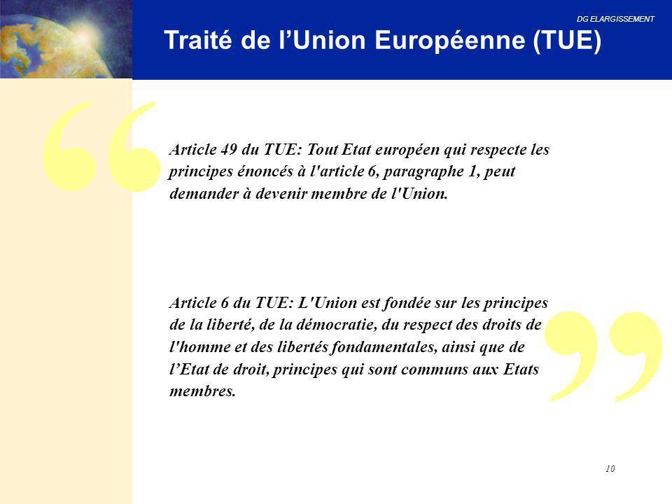 Traité de l'Union Européenne (TUE)