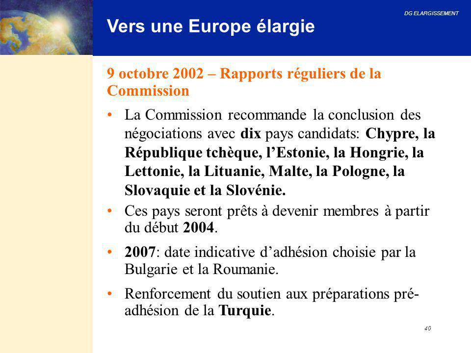 Vers une Europe élargie