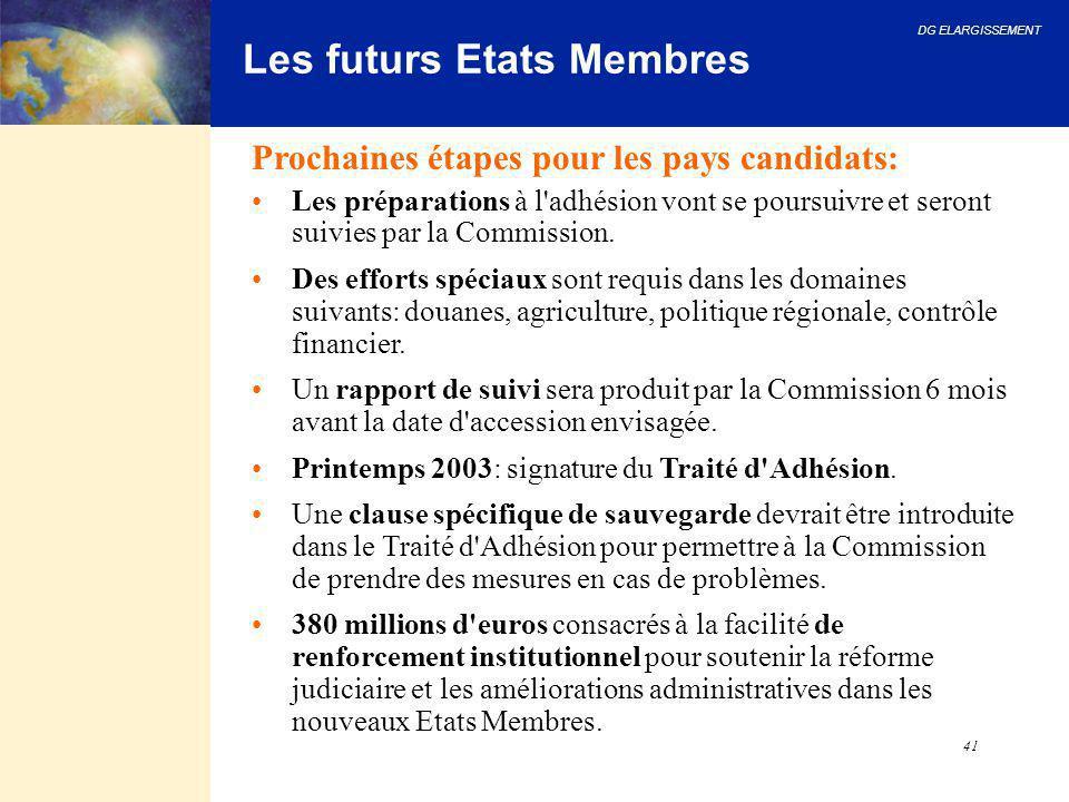Les futurs Etats Membres